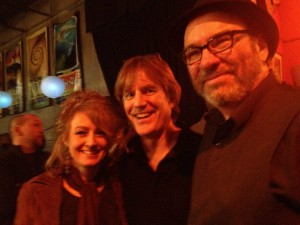 The Frye (Ann Fee and Joe Tougas) and Jim, post-Hoot 2014. Photo by The Frye.